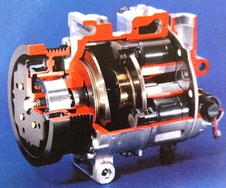 automotive AC compressor internal view