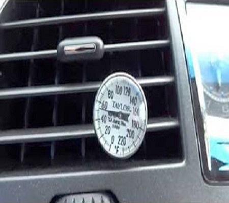 AC vent temperature reading