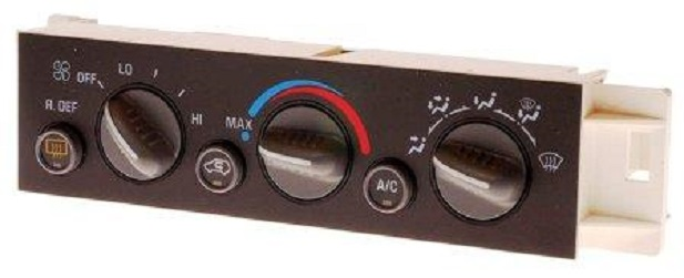 Heating and Air Conditioning Control Panel with Rear Window Defogger Switch