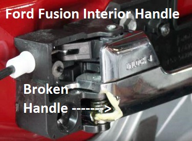Broken Ford Fusion Door Handle