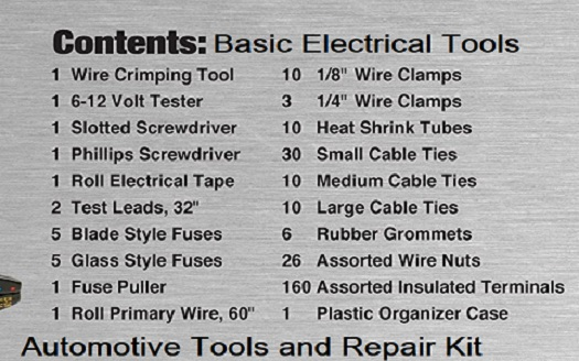 Automotive Electrical Toolkit Diagram