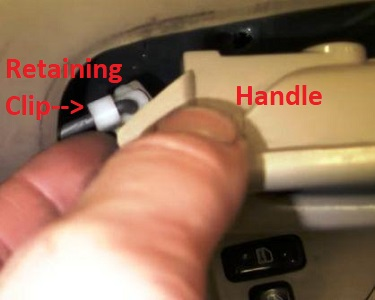How to replace the Toyota Corolla door handle