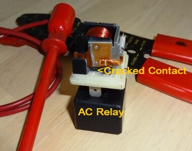 bad car ac relay stops  compressor  working