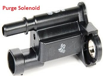 purge solenoid for vapor canister
