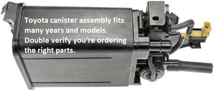 New Toyota Fuel Canister Assembly