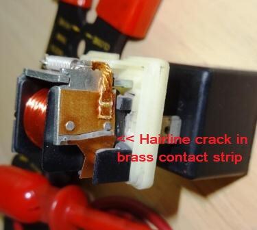 defective car AC relay